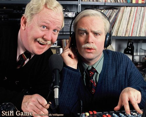 Still Game's Jack and Victor fill in as hospital DJs  image credit BBC Scotland